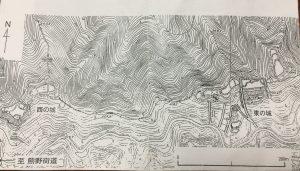 大野城縄張り地図 作図:新谷和之氏